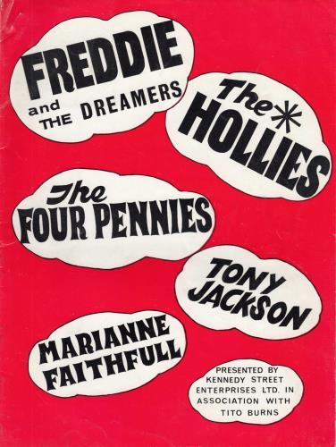 Freddie & The Dreamers Tour Programme tour programme UK F&DTRTO710186