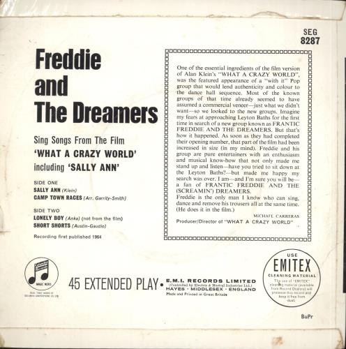 "Freddie & The Dreamers What A Crazy World EP - EX 7"" vinyl single (7 inch record) UK F&D07WH706585"