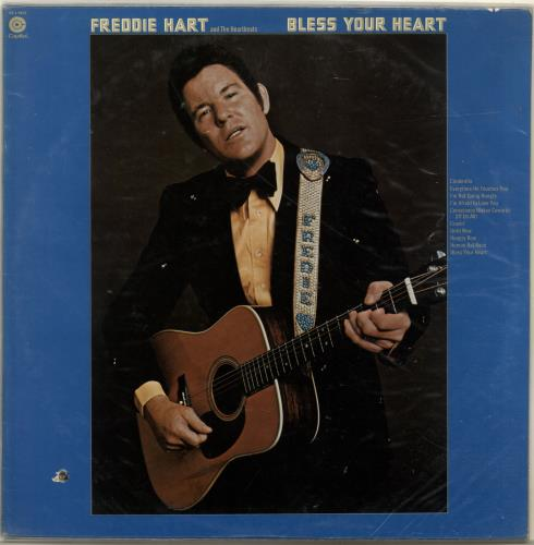 Freddie Hart Bless Your Heart vinyl LP album (LP record) Canadian 1FHLPBL699580