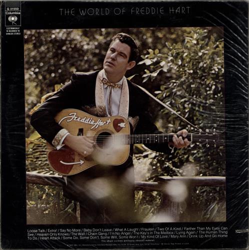 Freddie Hart The World Of Freddie Hart 2-LP vinyl record set (Double Album) US 1FH2LTH699062