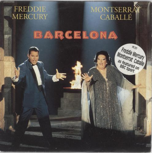 "Freddie Mercury Barcelona - 1992 issue 7"" vinyl single (7 inch record) UK MER07BA19598"