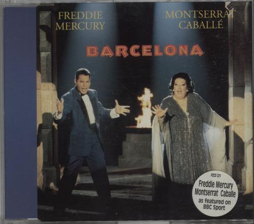 "Freddie Mercury Barcelona - Reissue CD single (CD5 / 5"") UK MERC5BA16345"