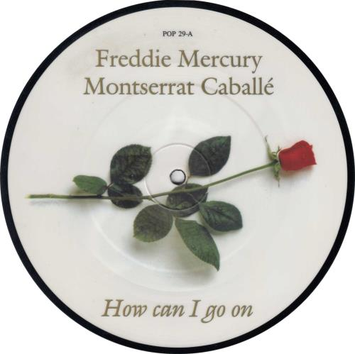 "Freddie Mercury How Can I Go On 7"" vinyl picture disc 7 inch picture disc single UK MER7PHO18576"
