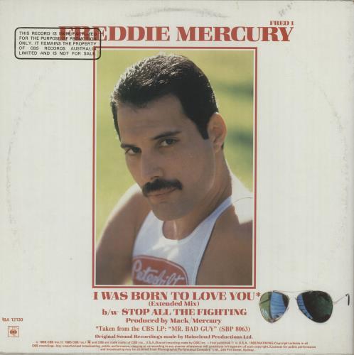 "Freddie Mercury I Was Born To Love You 12"" vinyl single (12 inch record / Maxi-single) Australian MER12IW657193"