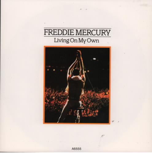 "Freddie Mercury Living On My Own - 1st 7"" vinyl single (7 inch record) UK MER07LI09176"