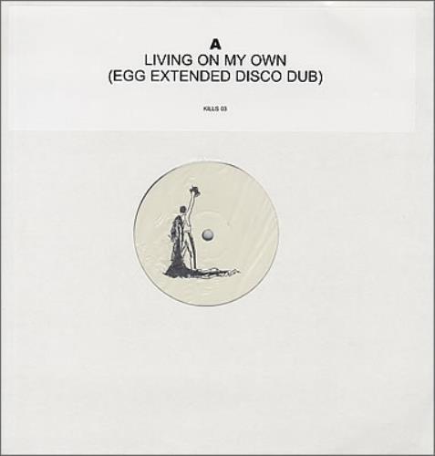 "Freddie Mercury Living On My Own - Egg Extended Disco Dub 12"" vinyl single (12 inch record / Maxi-single) UK MER12LI373792"