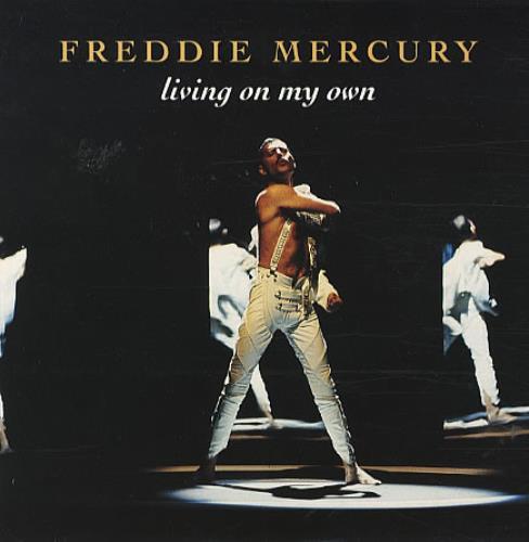 "Freddie Mercury Living On My Own 7"" vinyl single (7 inch record) UK MER07LI65144"