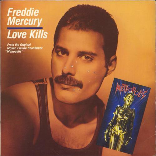 "Freddie Mercury Love Kills - EX 7"" vinyl single (7 inch record) Italian MER07LO768048"