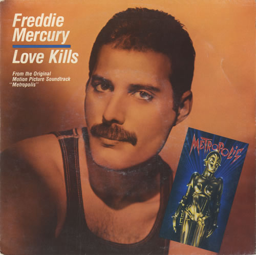 "Freddie Mercury Love Kills 7"" vinyl single (7 inch record) Dutch MER07LO48026"