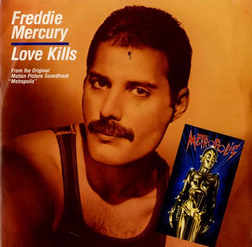 "Freddie Mercury Love Kills 7"" vinyl single (7 inch record) Italian MER07LO576966"