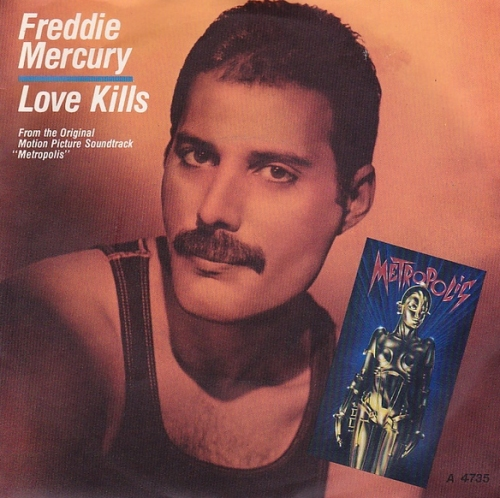 "Freddie Mercury Love Kills 7"" vinyl single (7 inch record) UK MER07LO07580"