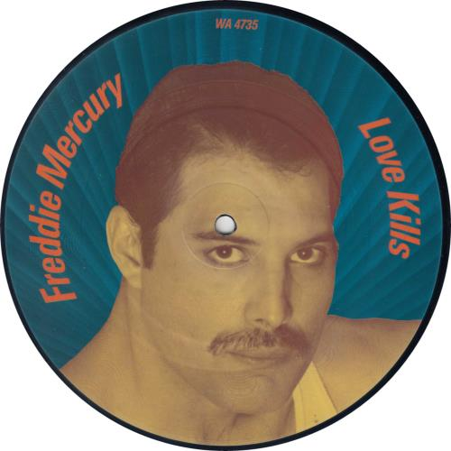 "Freddie Mercury Love Kills 7"" vinyl picture disc 7 inch picture disc single UK MER7PLO08437"