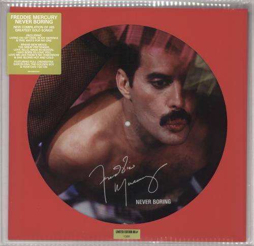 Freddie Mercury Never Boring picture disc LP (vinyl picture disc album) UK MERPDNE731778