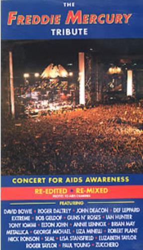 Freddie Mercury The Freddie Mercury Tribute Concert video (VHS or PAL or NTSC) UK MERVITH211798