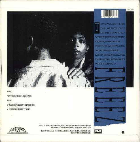 "Freeez Southern Freeez 12"" vinyl single (12 inch record / Maxi-single) UK FRZ12SO725292"