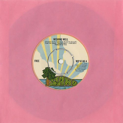 "Free Wishing Well 7"" vinyl single (7 inch record) UK FRE07WI334594"