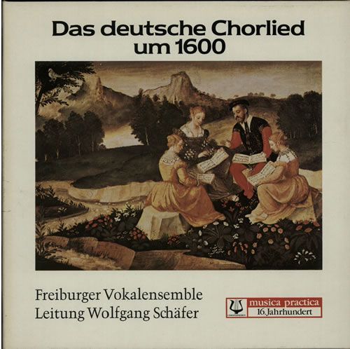 Freiburger Vokalensemble Das Deutsche Chorlied Un 1600 vinyl LP album (LP record) German G9ELPDA632585