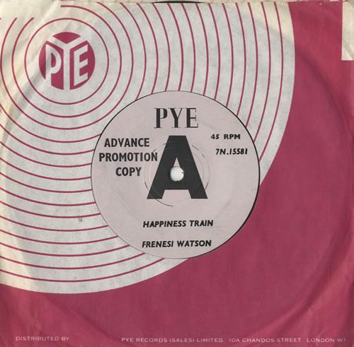 "Frenesi Watson Happiness Train 7"" vinyl single (7 inch record) UK FSI07HA469550"