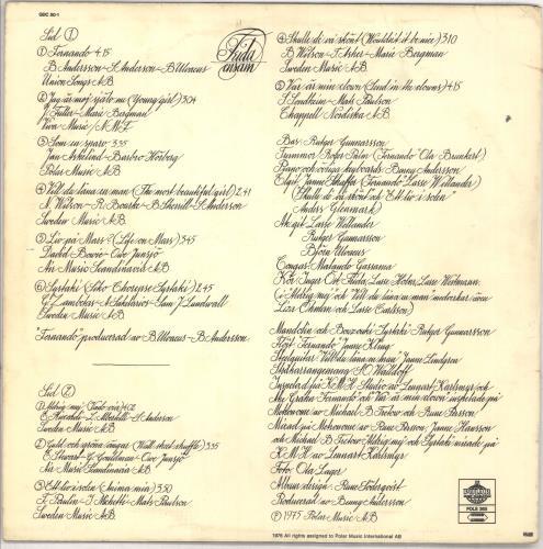 Frida Frida Ensam - 2nd - Silk Finish sleeve - EX vinyl LP album (LP record) Swedish FRILPFR729662