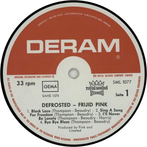 Frijid Pink Defrosted vinyl LP album (LP record) German IJDLPDE653318