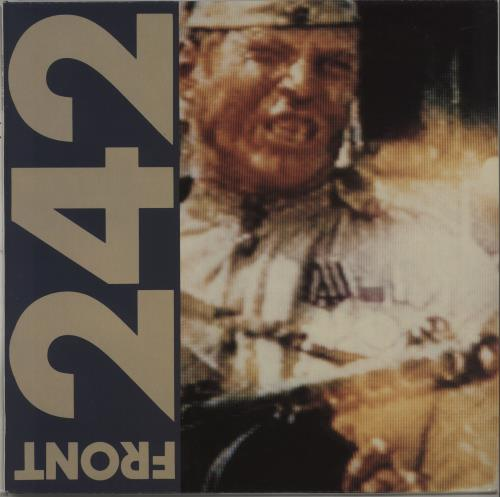 "Front 242 Politics Of Pressure - 2nd - 4 tracks 12"" vinyl single (12 inch record / Maxi-single) Belgian 24212PO669730"