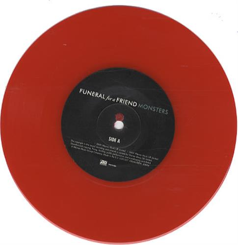 "Funeral For A Friend Monster - Red Vinyl 7"" vinyl single (7 inch record) UK FAF07MO333792"