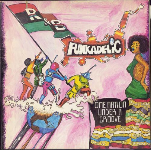 Funkadelic One Nation Under A Groove vinyl LP album (LP record) US FNKLPON494942