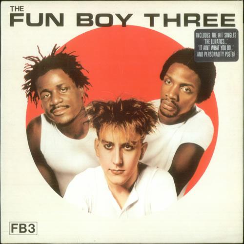 Fun Boy Three FB3 + Poster & Merchandise insert - Stickered Sleeve vinyl LP album (LP record) UK FUBLPFB296564