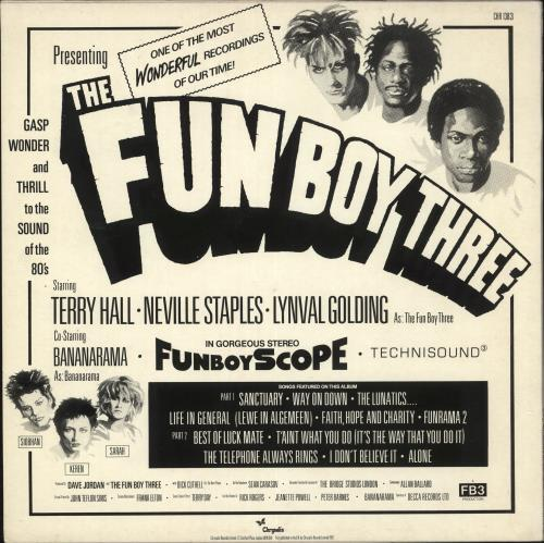 Fun Boy Three FB3 - Stickered Sleeve vinyl LP album (LP record) UK FUBLPFB731091