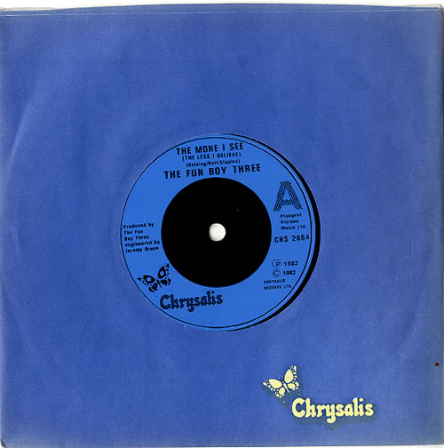 """Fun Boy Three The More I See (The Less I Believe) 7"""" vinyl single (7 inch record) UK FUB07TH589345"""