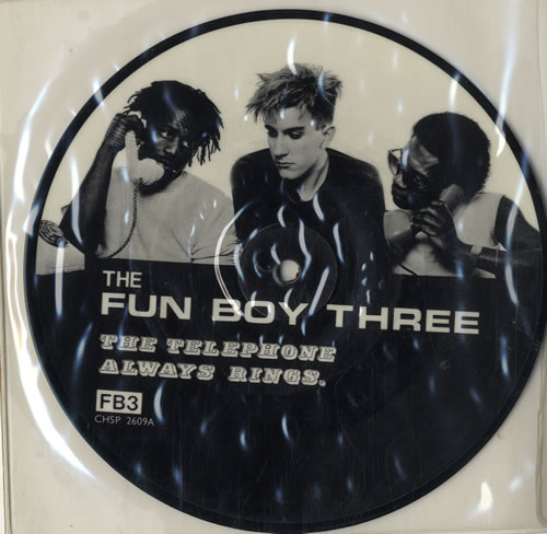 """Fun Boy Three The Telephone Always Rings - Black & White/Colour pictures 7"""" vinyl picture disc 7 inch picture disc single UK FUB7PTH566643"""