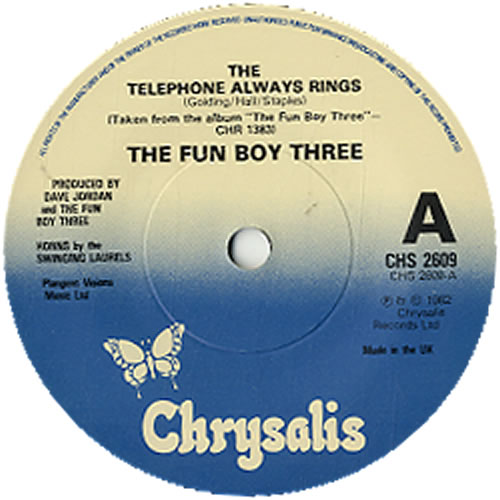 "Fun Boy Three The Telephone Always Rings - Solid 7"" vinyl single (7 inch record) UK FUB07TH617705"