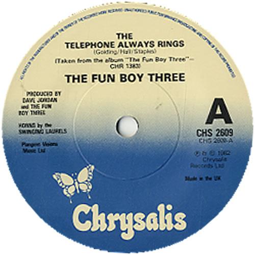 "Fun Boy Three The Telephone Always Rings - Solid 7"" vinyl single (7 inch record) UK FUB07TH617705"