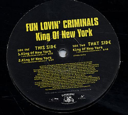 "Fun Lovin Criminals King Of New York 12"" vinyl single (12 inch record / Maxi-single) UK FLC12KI132869"