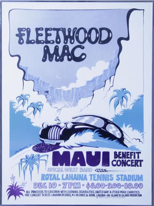 Fleetwood Mac Maui Benefit Concert poster US MACPOMA537119