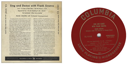 """Frank Sinatra Sing And Dance With Frank Sinatra 10"""" vinyl single (10"""" record) US FRS10SI390070"""