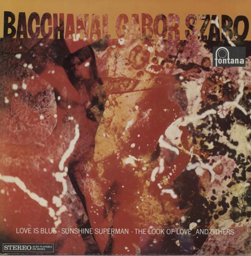 Gabor Szabo Bacchanal vinyl LP album (LP record) UK GFWLPBA759997