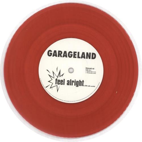 "Garageland Fingerpops - Red vinyl 7"" vinyl single (7 inch record) UK GCU07FI716817"