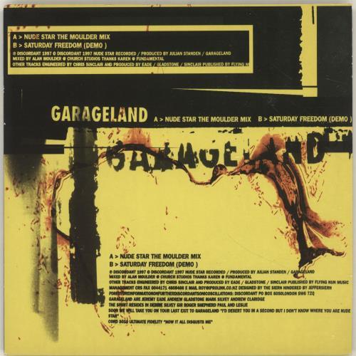 "Garageland Nude Star 7"" vinyl single (7 inch record) UK GCU07NU698371"