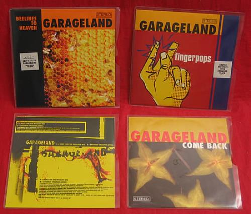 "Garageland Set Of Four Singles 7"" vinyl single (7 inch record) UK GCU07SE412794"