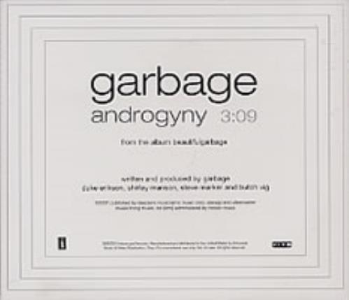 """Garbage Androgyny CD single (CD5 / 5"""") US GBGC5AN194343"""