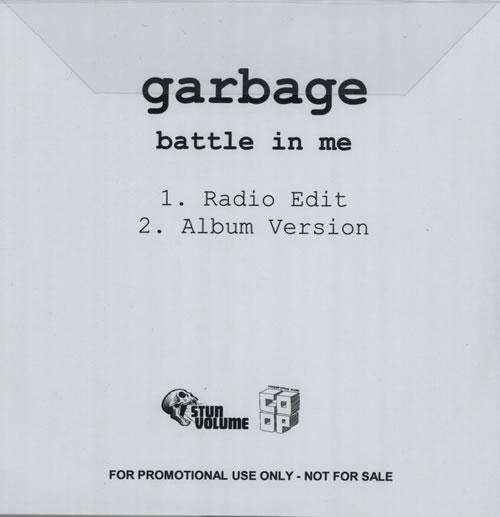 Garbage Battle In Me CD-R acetate UK GBGCRBA573722