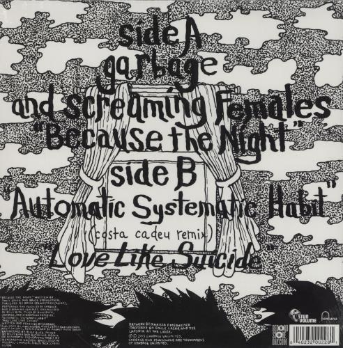 "Garbage Because The Night - RSD - Sealed 10"" vinyl single (10"" record) UK GBG10BE759467"