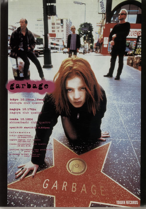 Garbage Live In Japan 1995 - Quantity of Five Handbills handbill Japanese GBGHBLI638031