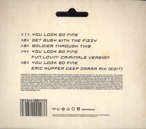 "Garbage You Look So Fine 3"" CD single (CD3) UK GBGC3YO138929"