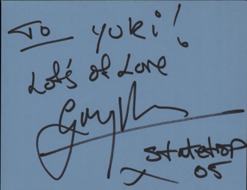 Gary Barden Page From An Autograph Book memorabilia UK G08MMPA608922
