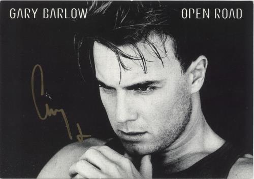 Gary Barlow Autographed Sales Presenter memorabilia UK GBLMMAU734042