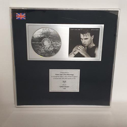 Gary Barlow Open Road award disc UK GBLAWOP747841