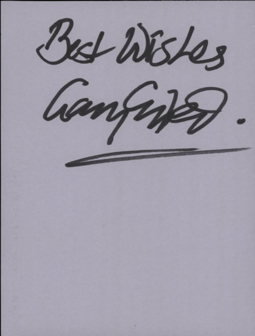 Gary Grainger Page From An Autograph Book memorabilia UK G07MMPA608894