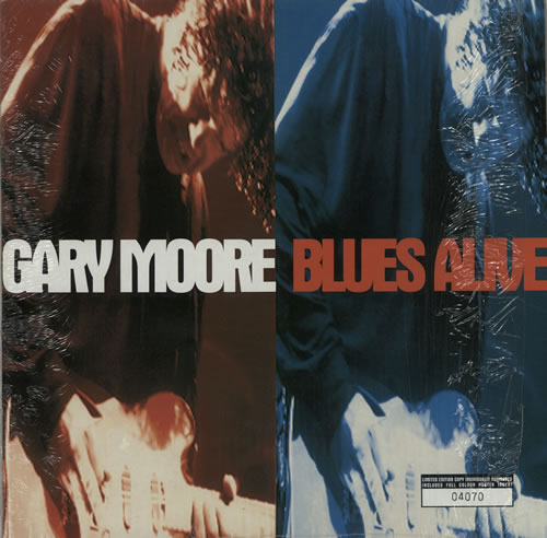 Gary Moore Blues Alive - Numbered vinyl LP album (LP record) UK MOOLPBL588668